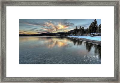 North Lake Tahoe Spring Sunset Framed Print