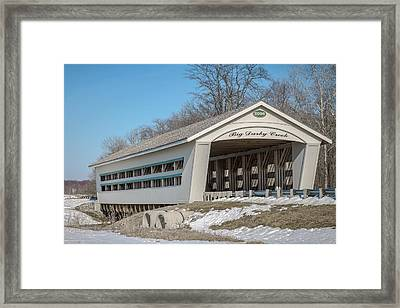 North Lewisburg Road Covered Framed Print by Jack R Perry
