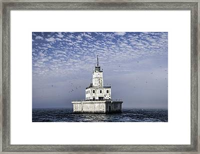 North Manitou Shoal Light Framed Print