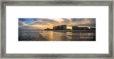 North Myrtle Beach Sunset Framed Print