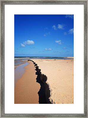 North Of Big Sable Point Framed Print by Michelle Calkins