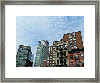 North Of Canal Framed Print by Sarah Loft