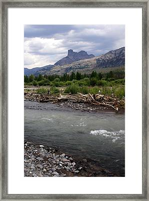 North Of Dubois Wy Framed Print by Marty Koch