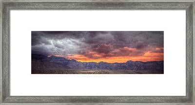 North Of Potosi Framed Print