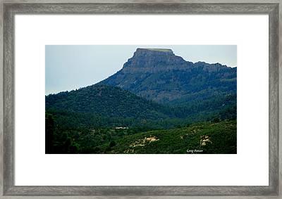 North Of Santa Fe Framed Print by Greg Patzer