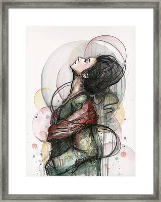 North  Framed Print by Olga Shvartsur