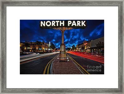 North Park Neon Sign San Diego California Framed Print