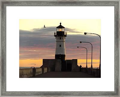 North Pier Lighthouse Framed Print