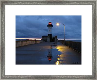 North Pier Reflections Framed Print