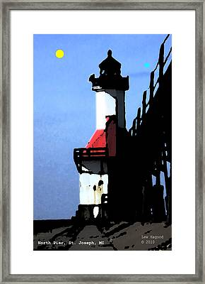 North Pier St Joseph Michigan Framed Print