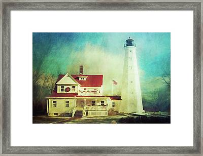 North Point Lighthouse Keeper's Quarters Framed Print