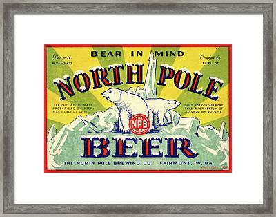 North Pole Beer Framed Print
