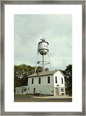 North Powder City Hall, Police Station And Library Framed Print by Jeff Swan