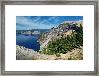 North Rim Of Crater Lake Framed Print by Frank Wilson