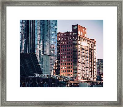 North Riverside Framed Print