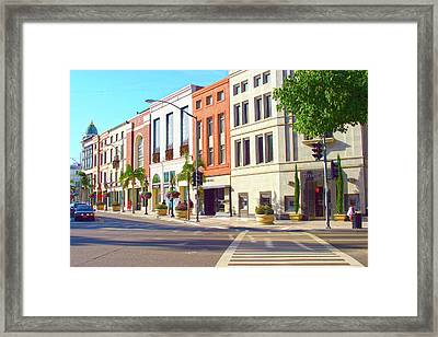 North Rodeo Drive Framed Print
