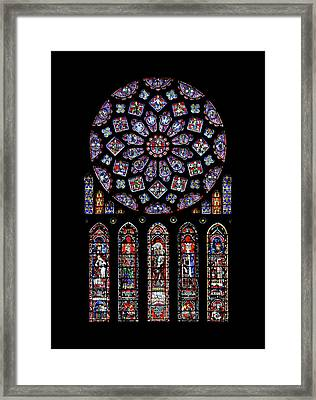 North Rose Window Of Chartres Cathedral Framed Print