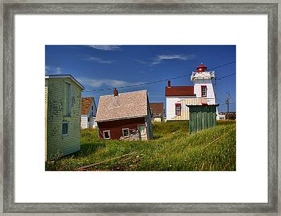 North Rustico Harbour - Pei Framed Print by Nikolyn McDonald