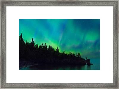 North Shore Aurora Framed Print by Alex Ganeev