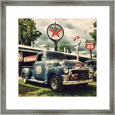 North Shore Garage Framed Print