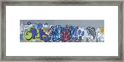 Framed Print featuring the digital art North Shore Graffitti by Erika Swartzkopf