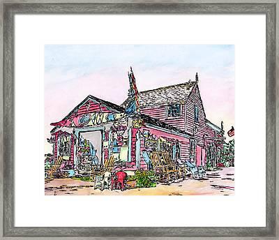 North Shore Kayak Shop, Rockport Massachusetts Framed Print