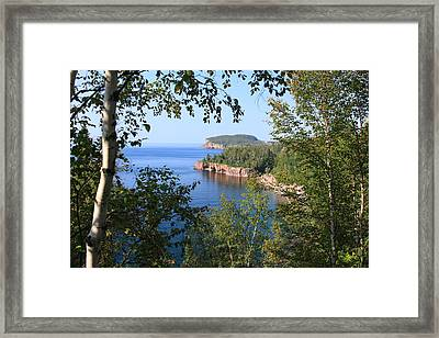 North Shore Lake Superior Framed Print