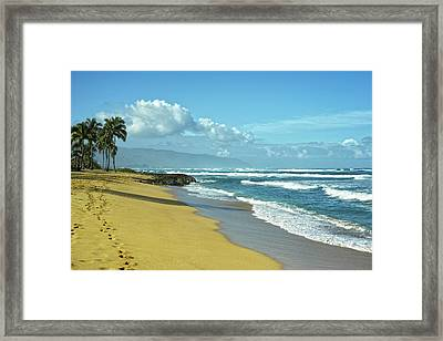 Framed Print featuring the photograph North Shore Morning by Lars Lentz