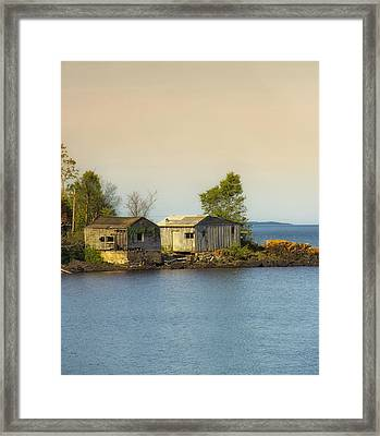 North Shore Old Buildings Framed Print by Bill Tiepelman