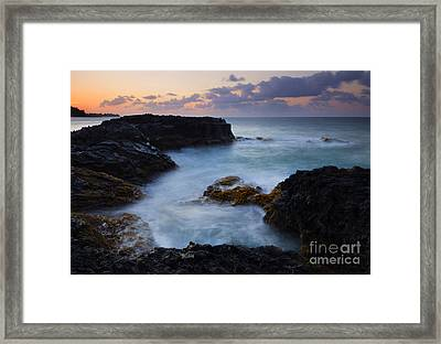 North Shore Tides Framed Print by Mike  Dawson