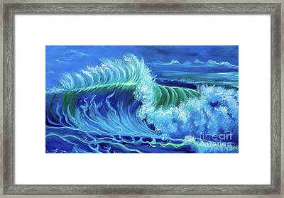 North Shore Wave Hawaii Jenny Lee Discount Framed Print