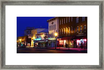 North Side Of East End Of Main Street Framed Print