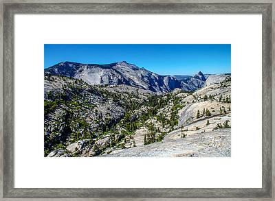 North Side Of Half Dome Valley Framed Print by Brian Williamson
