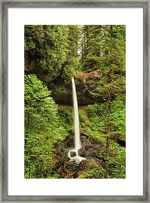 North Silver Falls Framed Print by Mary Jo Allen
