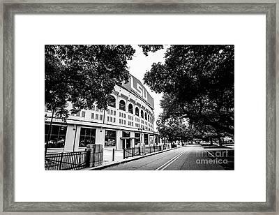 North Stadium Road - Bw Framed Print