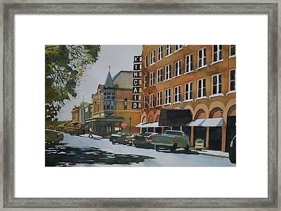 North Street - Uvalde, Texas Framed Print