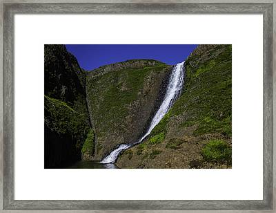 North Table Mountain Spring Falls Framed Print