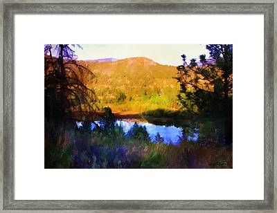 North Thompson River Framed Print by Dwayne Jensen