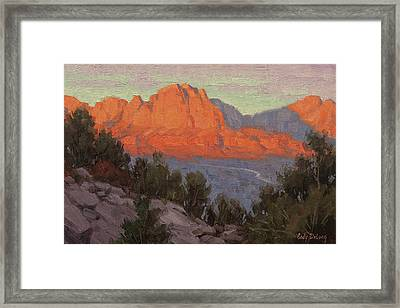 North To Zion Framed Print by Cody DeLong