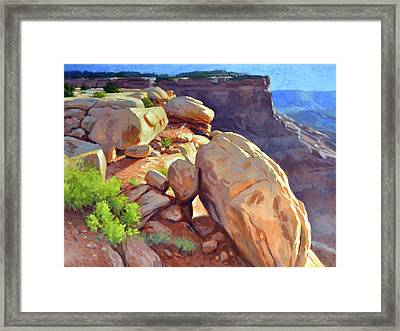 North Towards Moab Framed Print