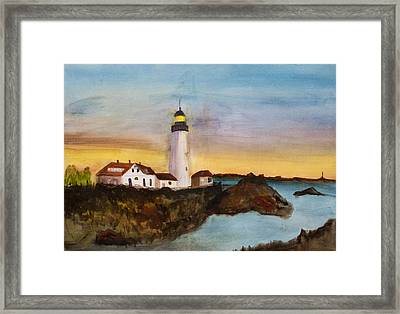 North Truro Light House Cape Cod Framed Print