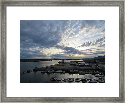 North Vancouver And Vancouver Framed Print