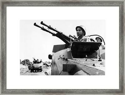North Vietnamese Gun Crew Framed Print by Underwood Archives