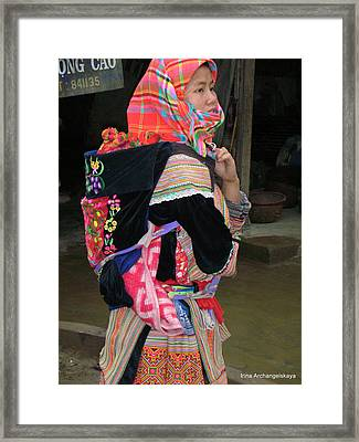 North Vietnamese Lady With Baby Framed Print