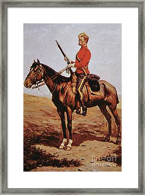 North West Mounted Police Of Canada Framed Print by Frederic Remington