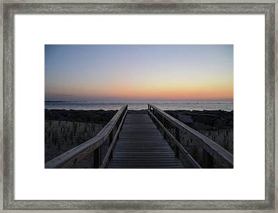 North Wildwood Seawall Just Before Sunrise Framed Print by Bill Cannon