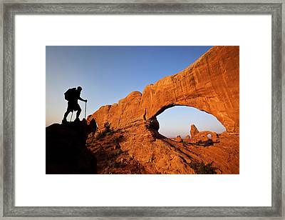 North Window Arch Framed Print