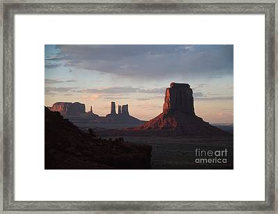 North Window At Sunset Framed Print
