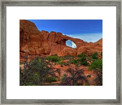 North Window Portal Framed Print