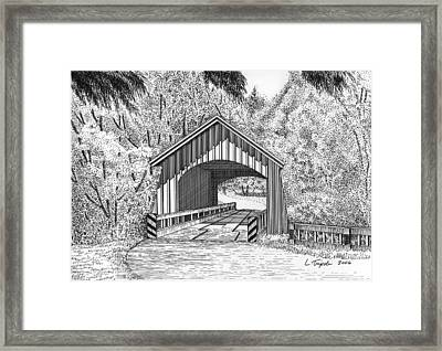 North Yachats Covered Bridge Framed Print